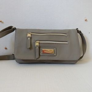 Relic Small Grey Shoulder Bag w Adjustable Strap